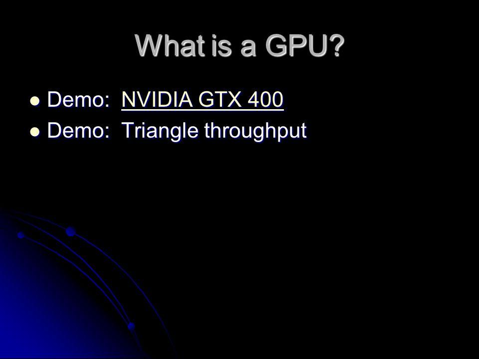 What is a GPU.