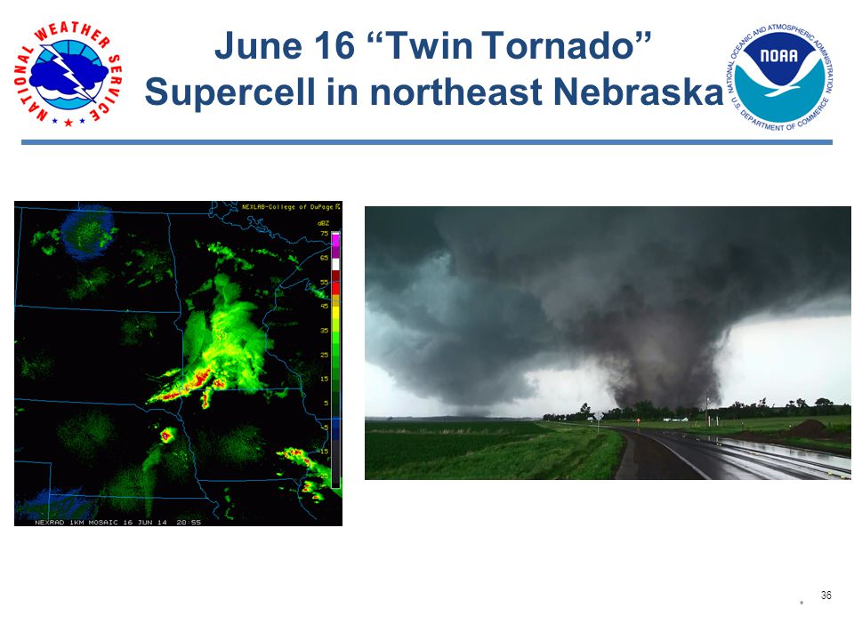 June 16 Twin Tornado Supercell in northeast Nebraska * 36