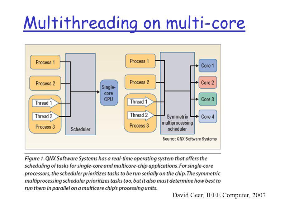 Multithreading on multi-core David Geer, IEEE Computer, 2007