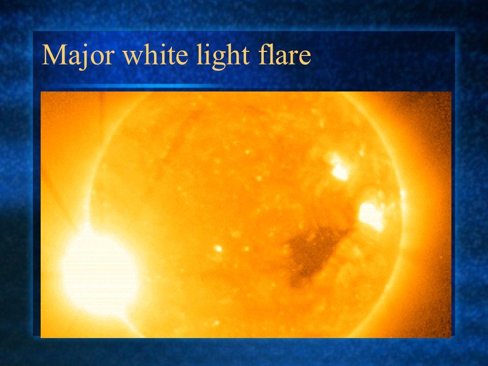 Major white light flare