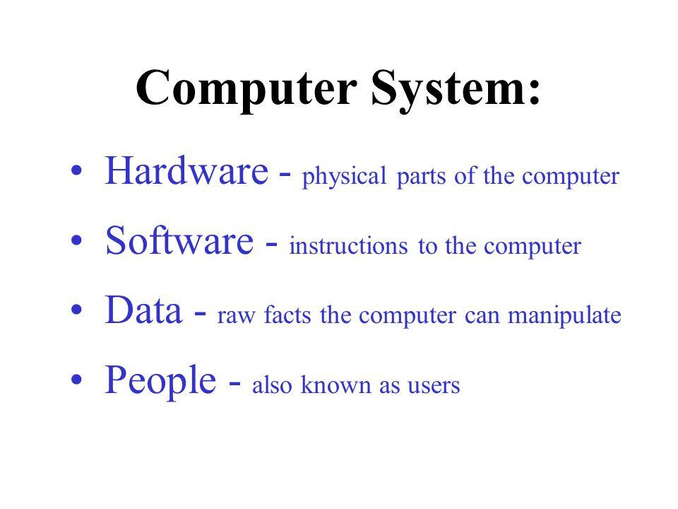 Supercomputer Minicomputer Microcomputer