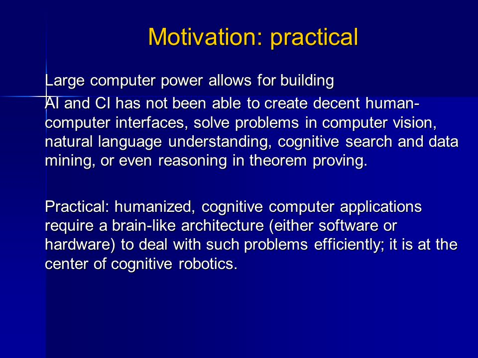 Some failed attempts Many have proposed the construction of brain-like computers, frequently using special hardware.Many have proposed the construction of brain-like computers, frequently using special hardware.