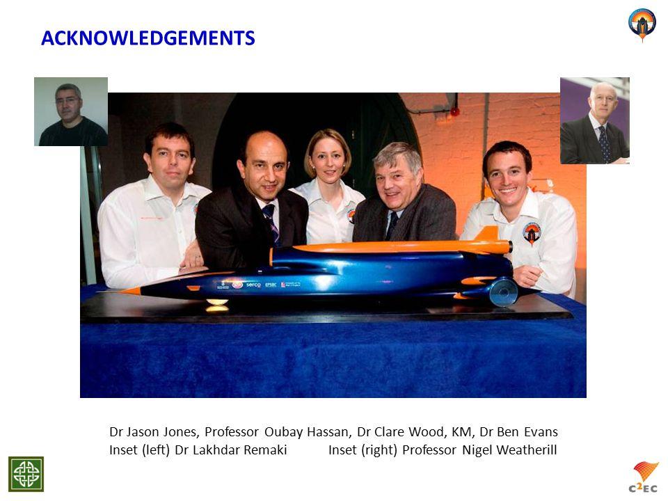 ACKNOWLEDGEMENTS Dr Jason Jones, Professor Oubay Hassan, Dr Clare Wood, KM, Dr Ben Evans Inset (left) Dr Lakhdar Remaki Inset (right) Professor Nigel Weatherill
