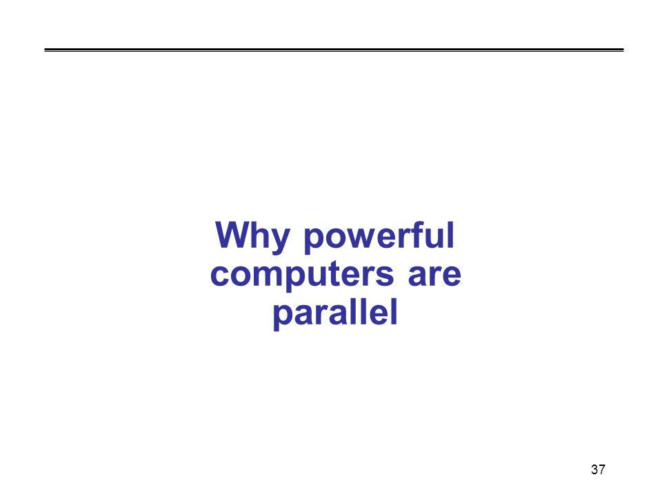37 Why powerful computers are parallel