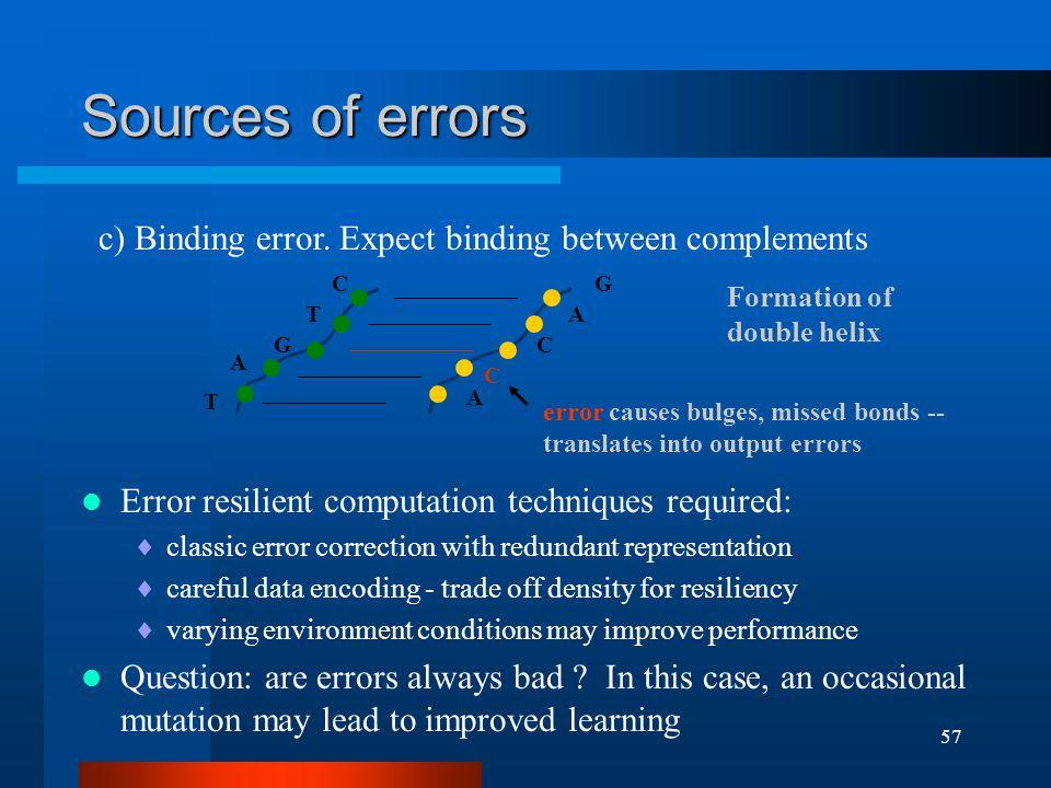 57 c) Binding error.