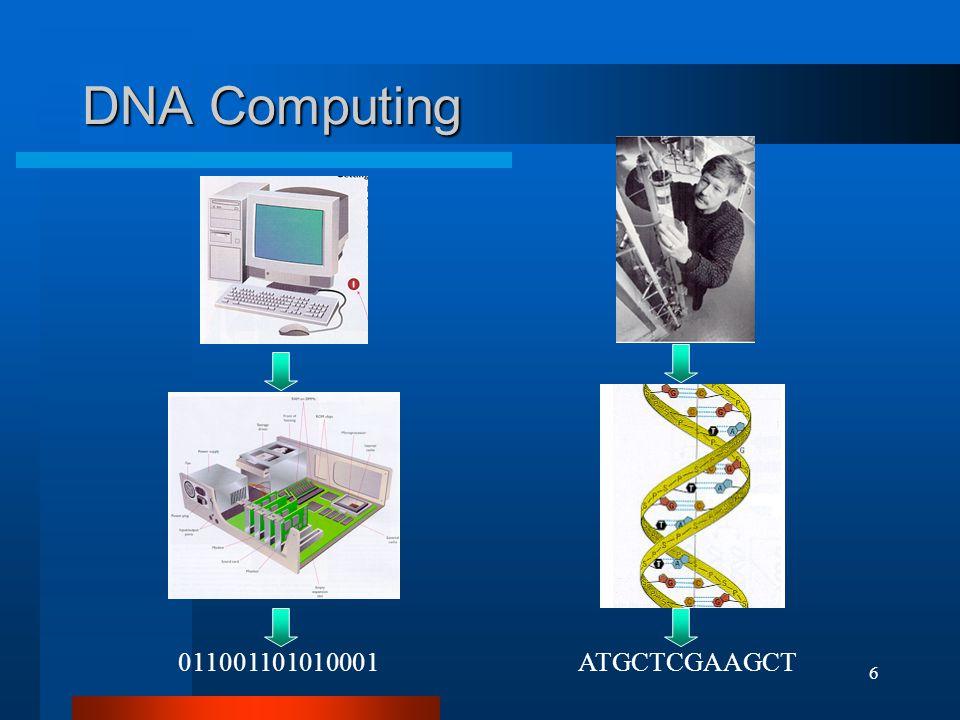 6 DNA Computing 011001101010001ATGCTCGAAGCT