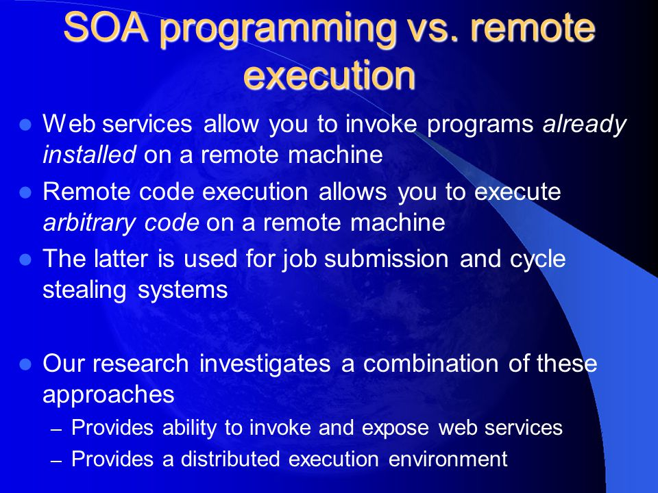 SOA programming vs.