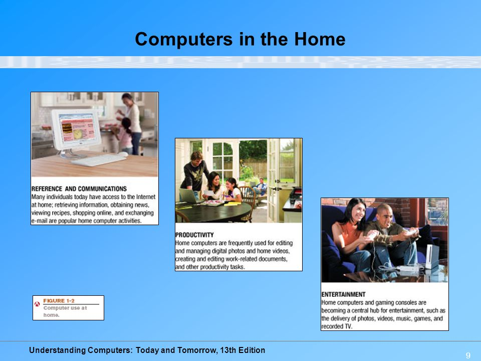 Understanding Computers: Today and Tomorrow, 13th Edition 9 Computers in the Home