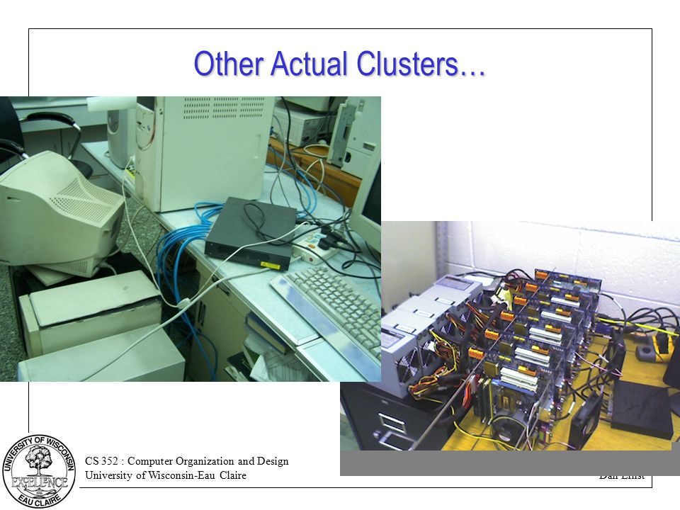 CS 352 : Computer Organization and Design University of Wisconsin-Eau Claire Dan Ernst Other Actual Clusters…
