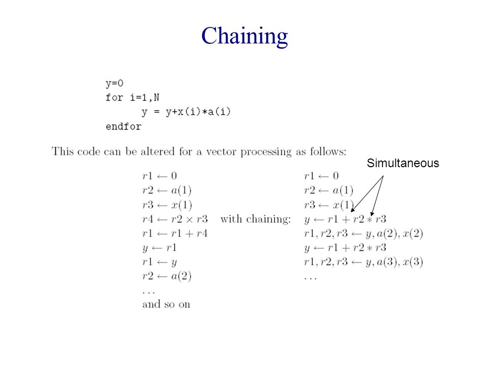 Chaining Simultaneous