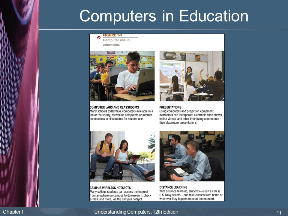 Chapter 1 Understanding Computers, 12th Edition 11 Computers in Education