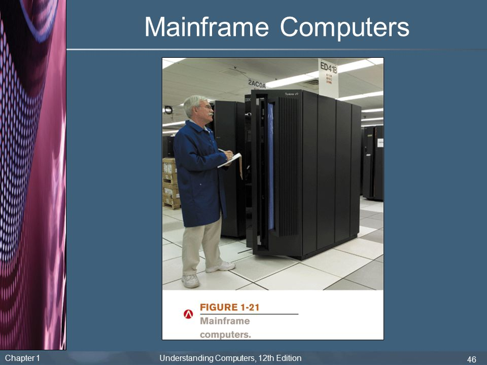 Chapter 1 Understanding Computers, 12th Edition 46 Mainframe Computers