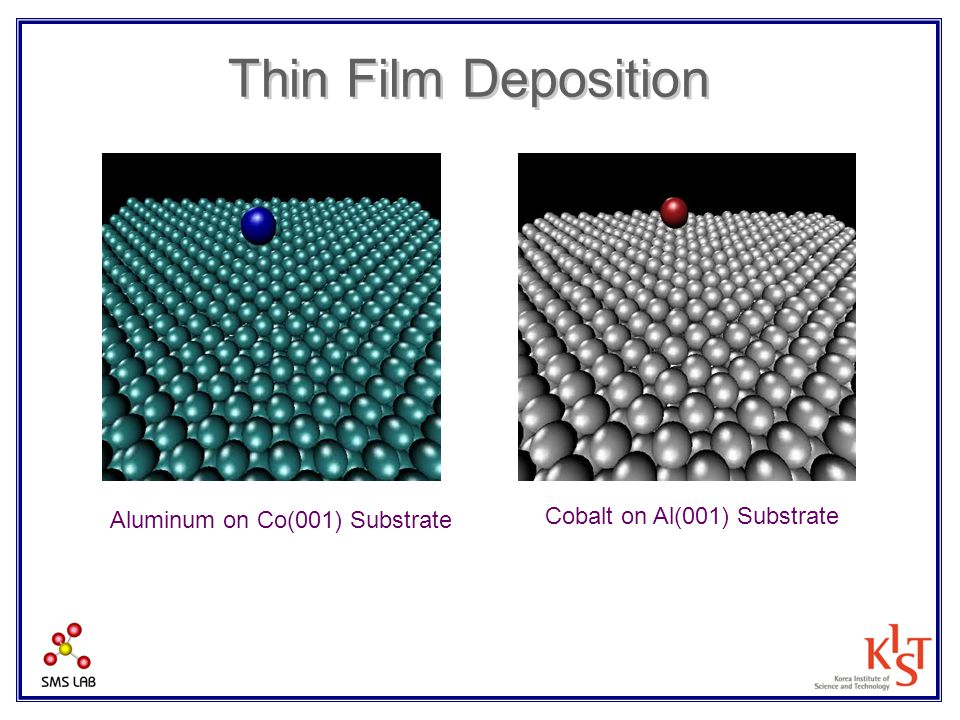 Thin Film Deposition Cobalt on Al(001) Substrate Aluminum on Co(001) Substrate