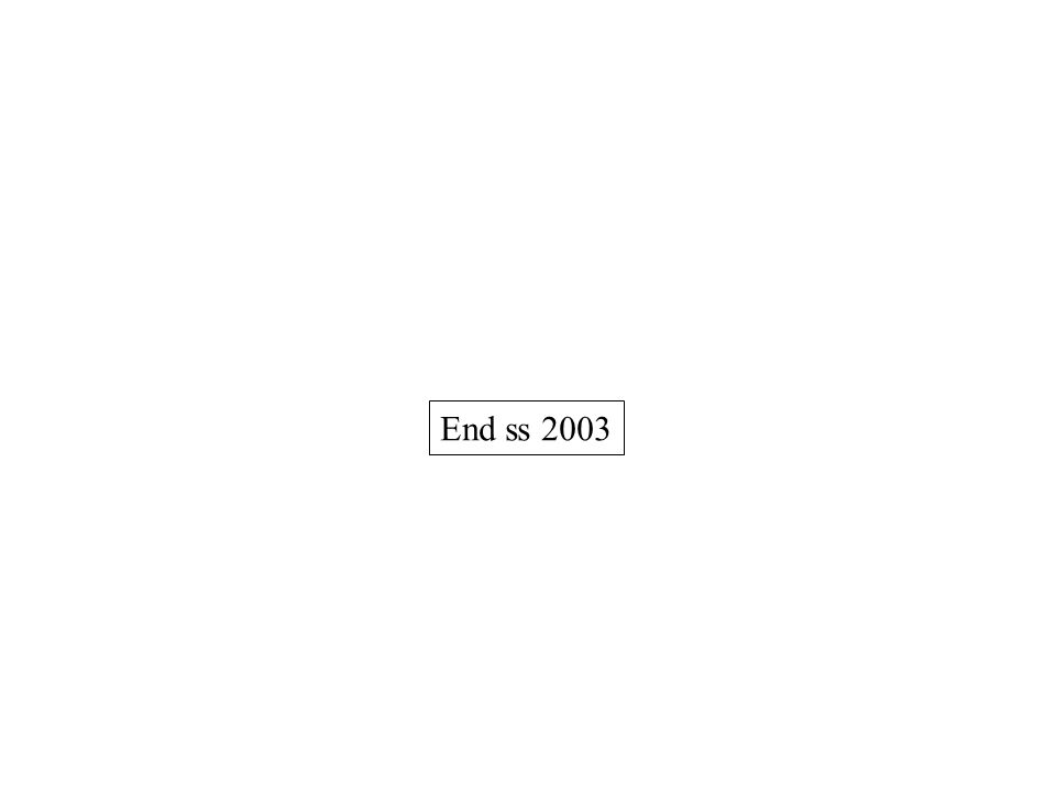 End ss 2003