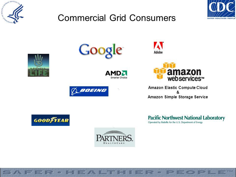 Commercial Grid Consumers Amazon Elastic Compute Cloud & Amazon Simple Storage Service