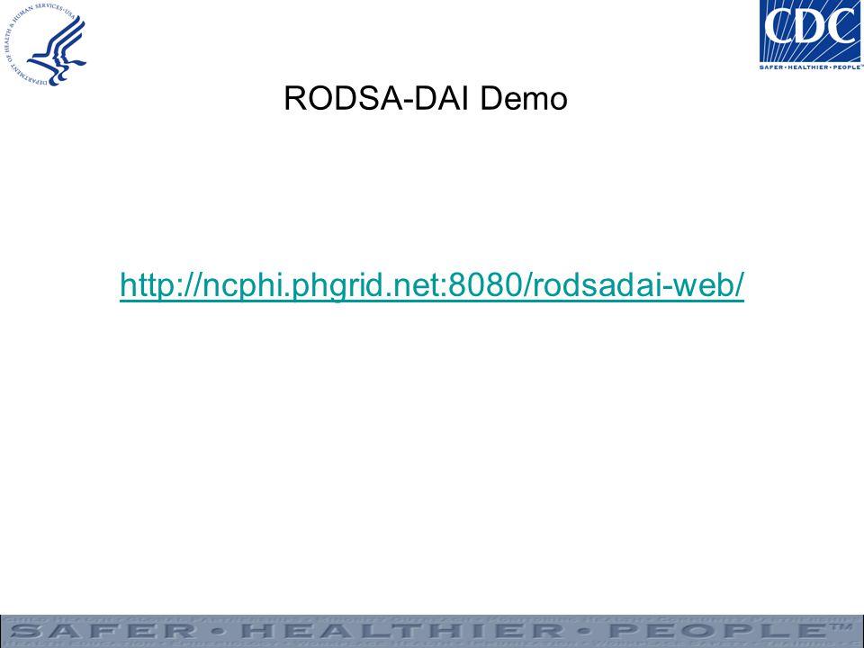 RODSA-DAI Demo http://ncphi.phgrid.net:8080/rodsadai-web/