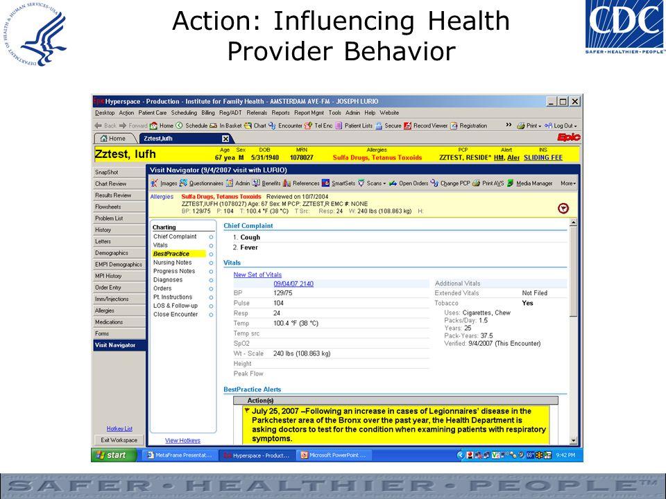Action: Influencing Health Provider Behavior