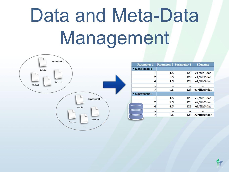 Data and Meta-Data Management