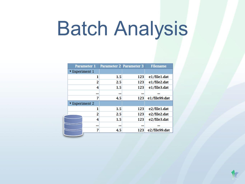 Batch Analysis