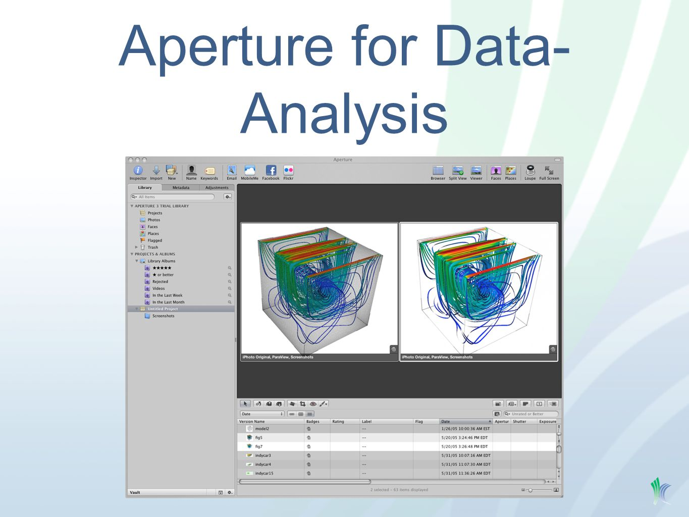Aperture for Data- Analysis