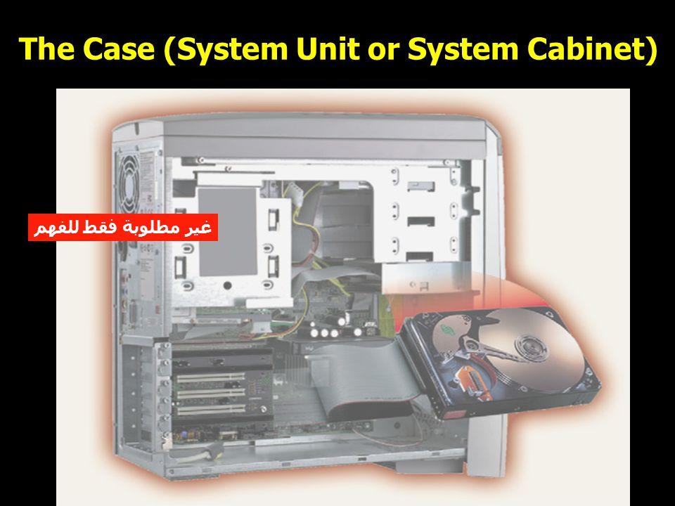 8 The Case (System Unit or System Cabinet) غير مطلوبة فقط للفهم