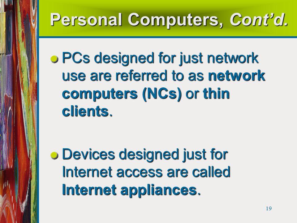 19 Personal Computers, Cont'd.