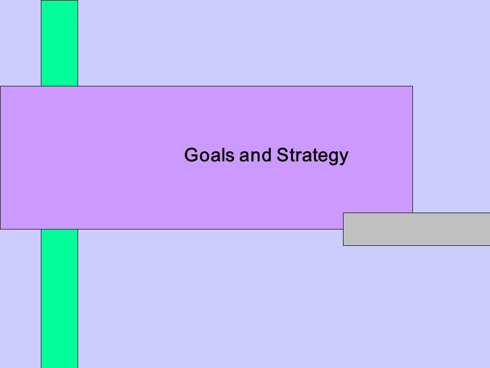 *** Goals and Strategy