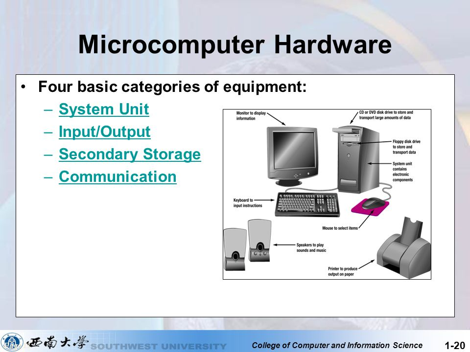 What are the main type of machines for for microcomputers?