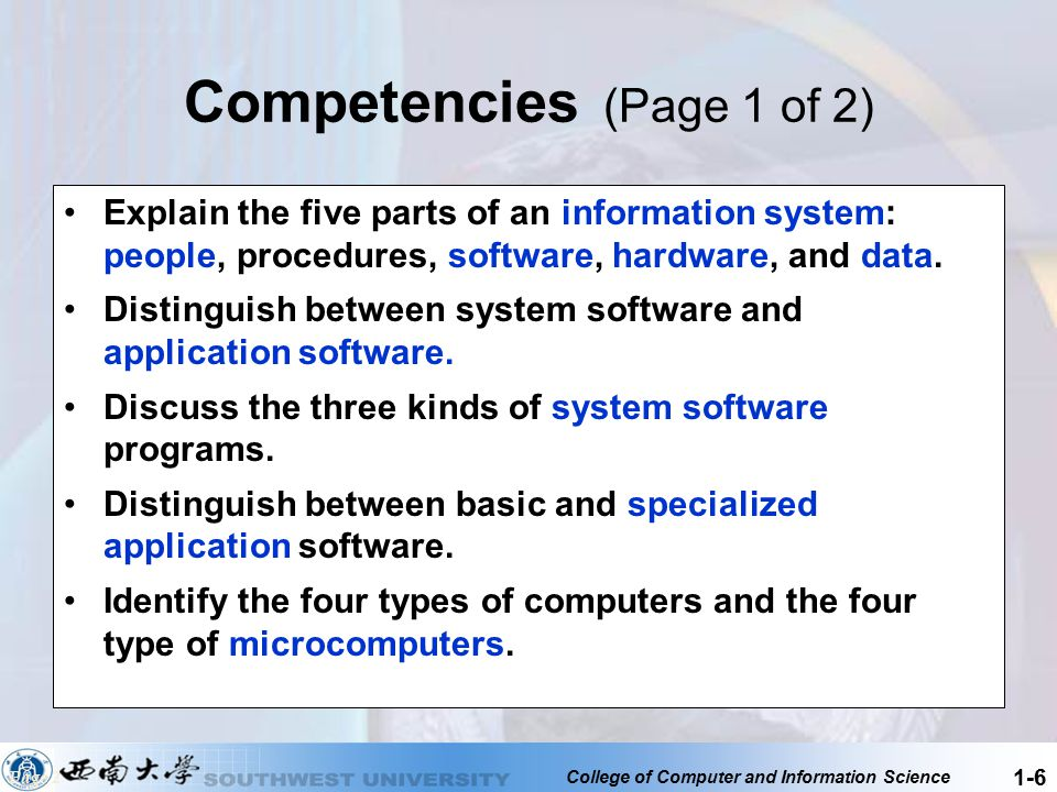 College of Computer and Information Science 1-17 Notebook or Laptop Computers Notebook computers, also known as laptop computers, are portable, lightweight, and fit into most briefcases Return Page 11