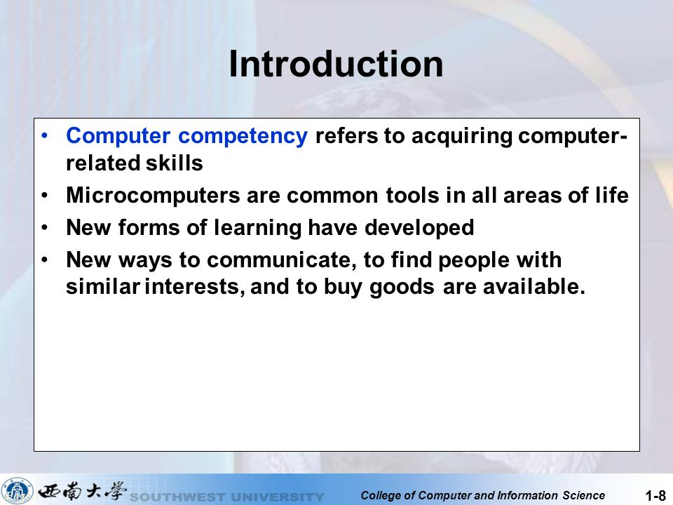 College of Computer and Information Science 1-9 Five Parts of an Information System 1.People 2.Procedures 3.Software 4.Hardware 5.Data Page 4