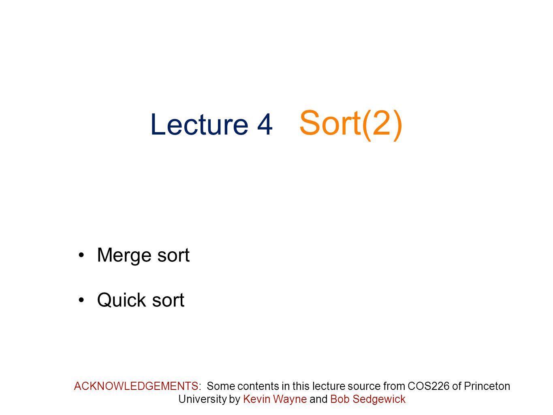 Bottom-up merge sort