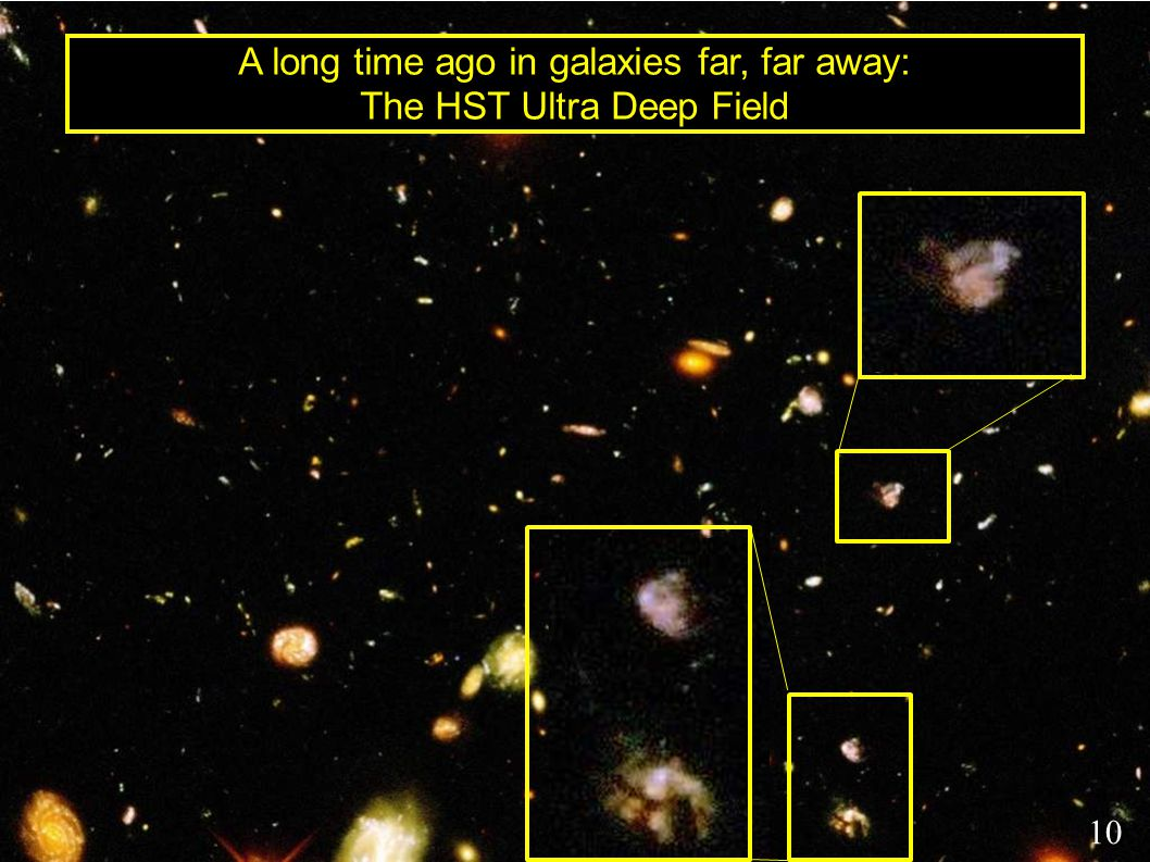 A long time ago in galaxies far, far away: The HST Ultra Deep Field 10