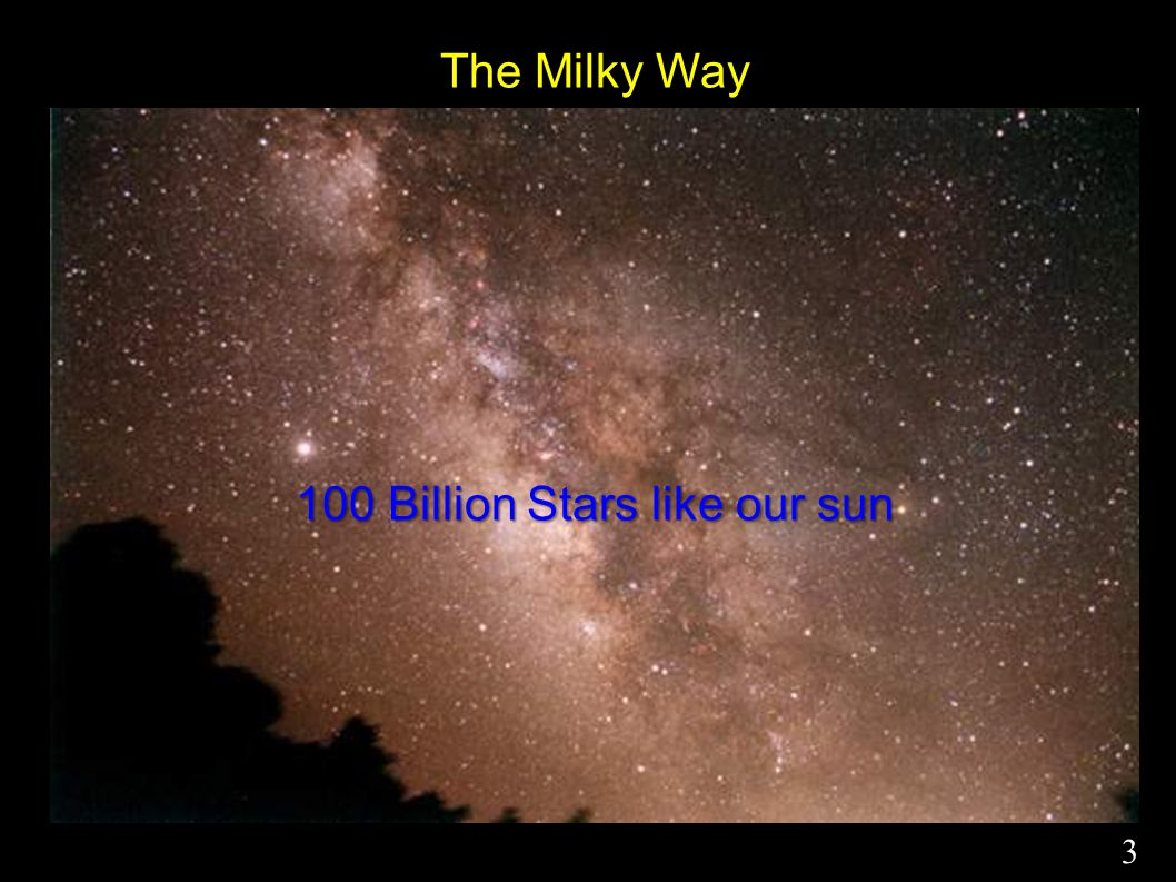 The Milky Way 100 Billion Stars like our sun 3