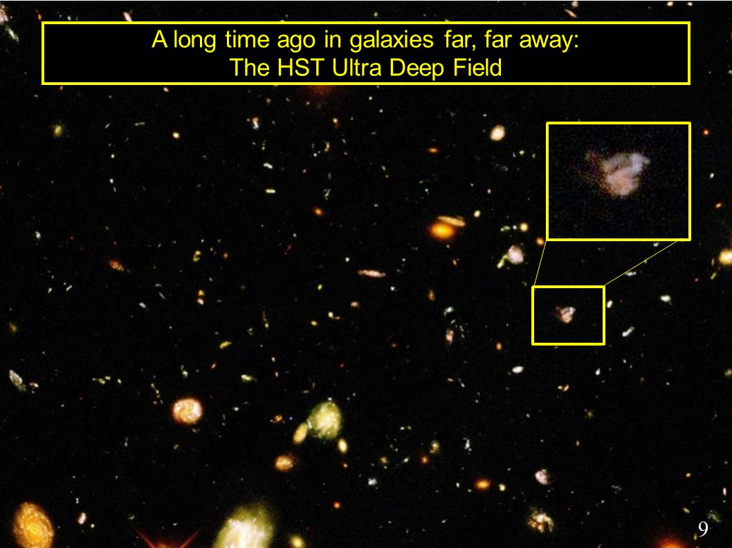 A long time ago in galaxies far, far away: The HST Ultra Deep Field 9