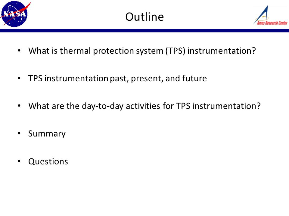 Outline What is thermal protection system (TPS) instrumentation.