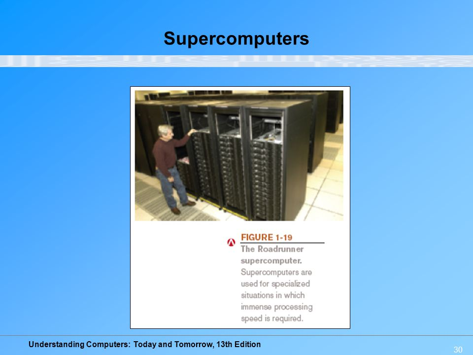 Understanding Computers: Today and Tomorrow, 13th Edition 30 Supercomputers