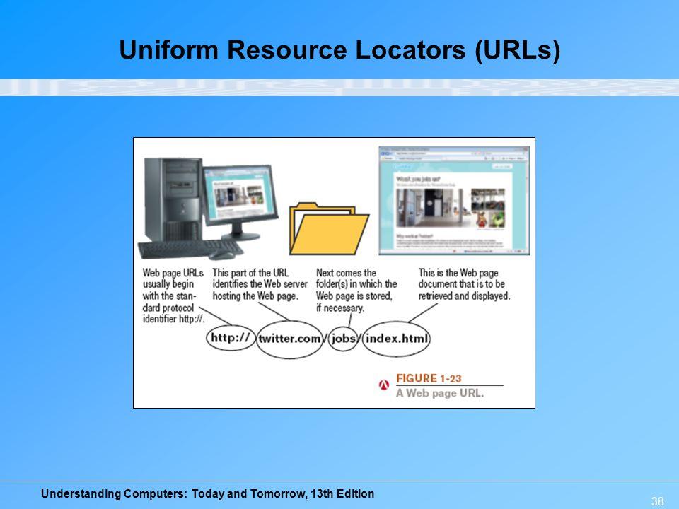 Understanding Computers: Today and Tomorrow, 13th Edition 38 Uniform Resource Locators (URLs)