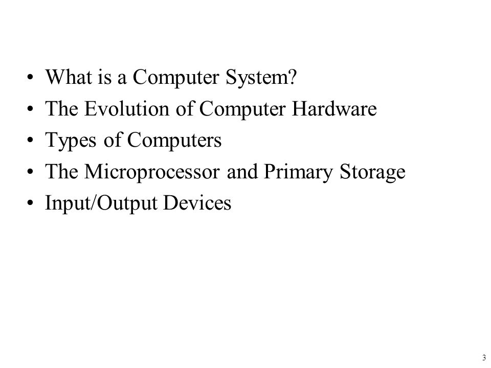 Learning Objectives Recognize major components of an electronic computer.
