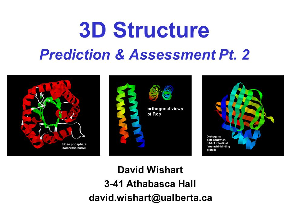 3D Structure Prediction & Assessment Pt.