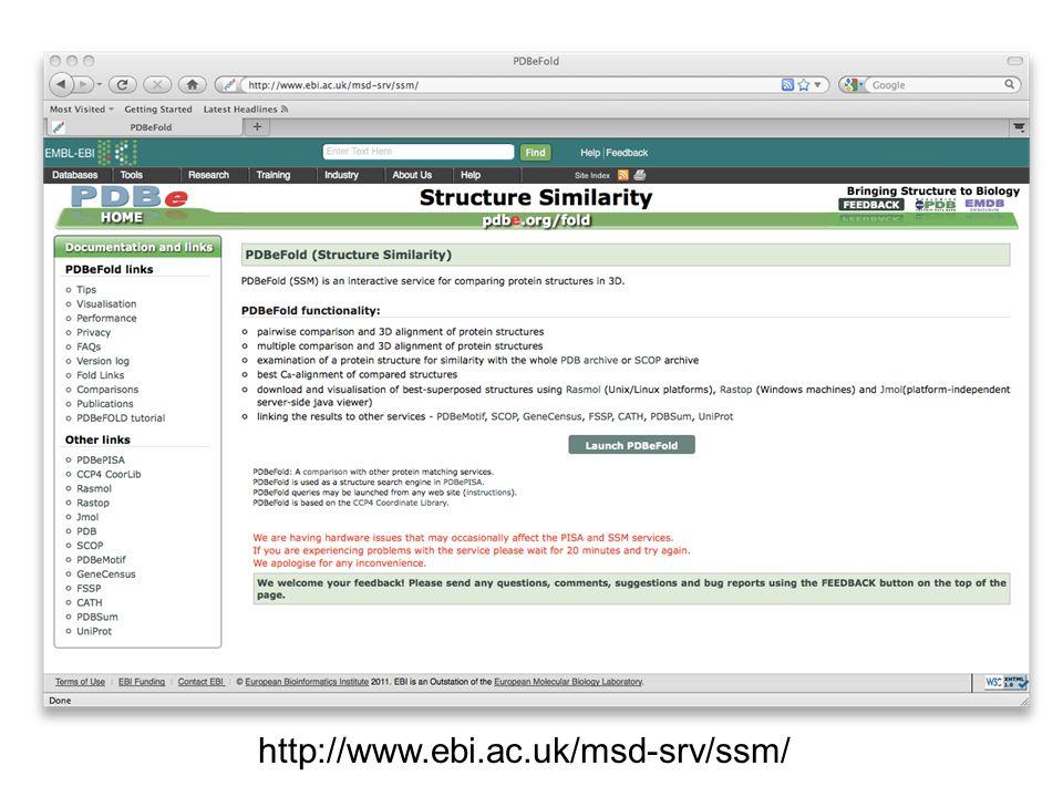 http://www.ebi.ac.uk/msd-srv/ssm/