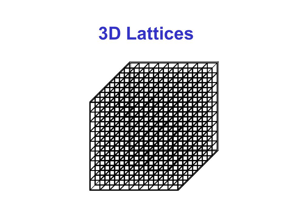 3D Lattices
