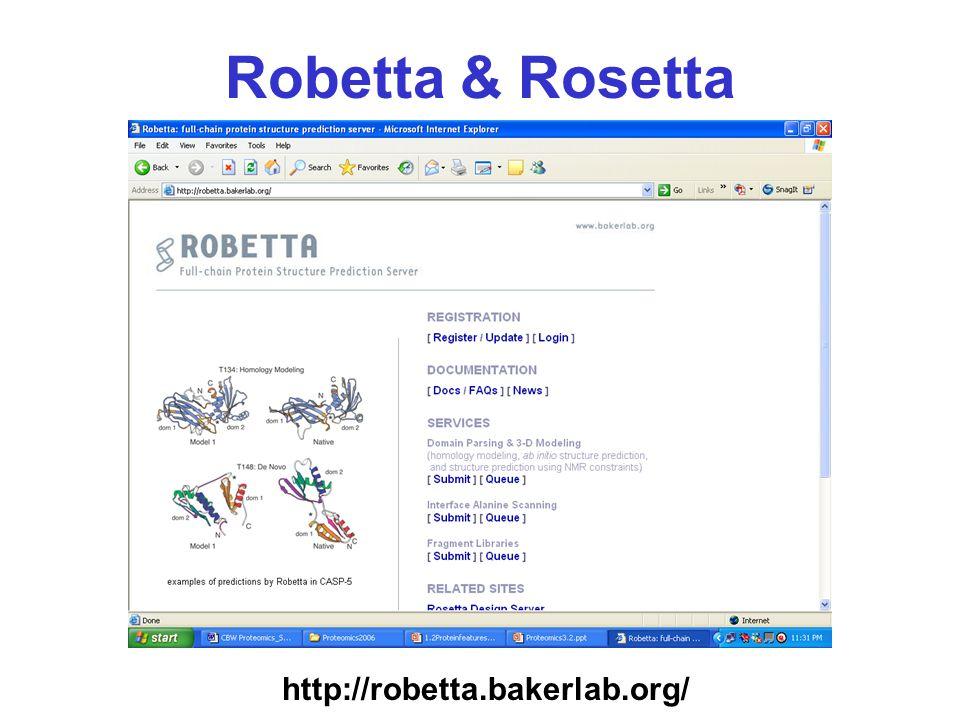 Robetta & Rosetta http://robetta.bakerlab.org/