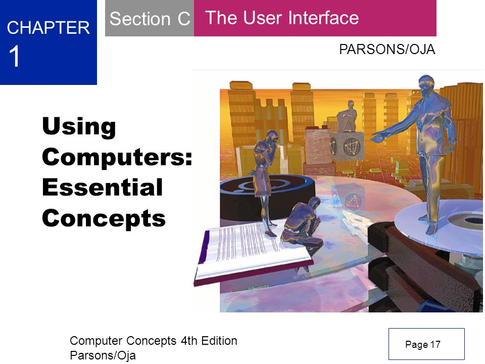Computer Concepts 4th Edition Parsons/Oja Using Computers: Essential Concepts CHAPTER 1 PARSONS/OJA Page 17 The User Interface Section C