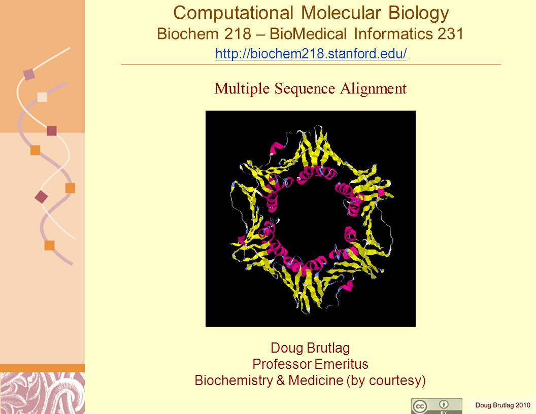 Goals of Multiple Sequence Alignment Determine Consensus Sequences –Prosite Patterns Building Gene Families –InterPro, Prints, ProDom, pFAM, DOMO, COGs, KOGs Develop Relationships & Phylogenies –Clusters, COGs, KOGs, ClusTR –Relationships –Evolutionary Models –UPGMA, Neighbor Joining, Phylip, GrowTree, PAUP Model Protein Structures for Threading and Fold Prediction –Profiles, Templates, HSSP, FSSP, SwissModel –Hidden Markov Models, pFAM, SAM, SuperFamily –Network Models, Neural Nets, Bayesian Networks –Statistical Models, Generalized Linear Models