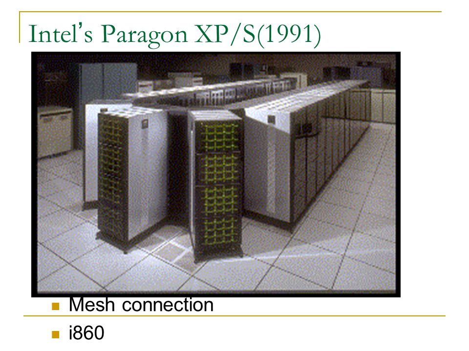 Intel ' s Paragon XP/S(1991) Mesh connection i860