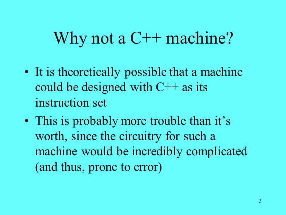 3 Why not a C++ machine.