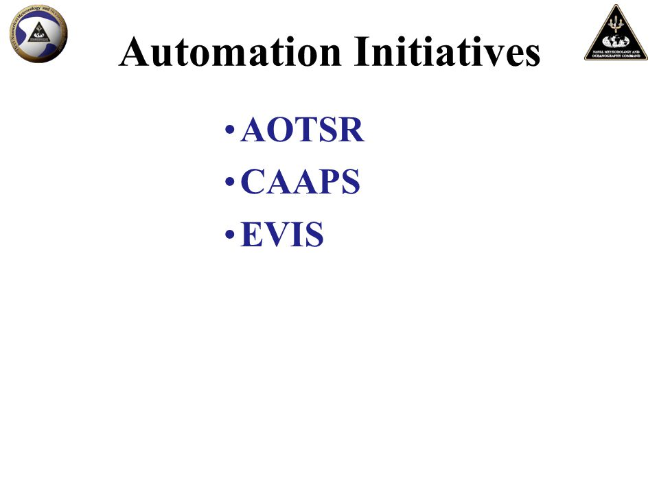Automation Initiatives AOTSR CAAPS EVIS