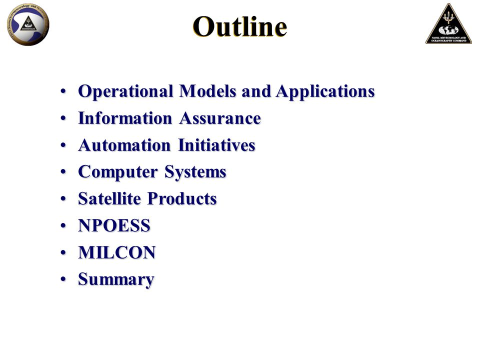 Operational Models and ApplicationsOperational Models and Applications Information AssuranceInformation Assurance Automation InitiativesAutomation Ini