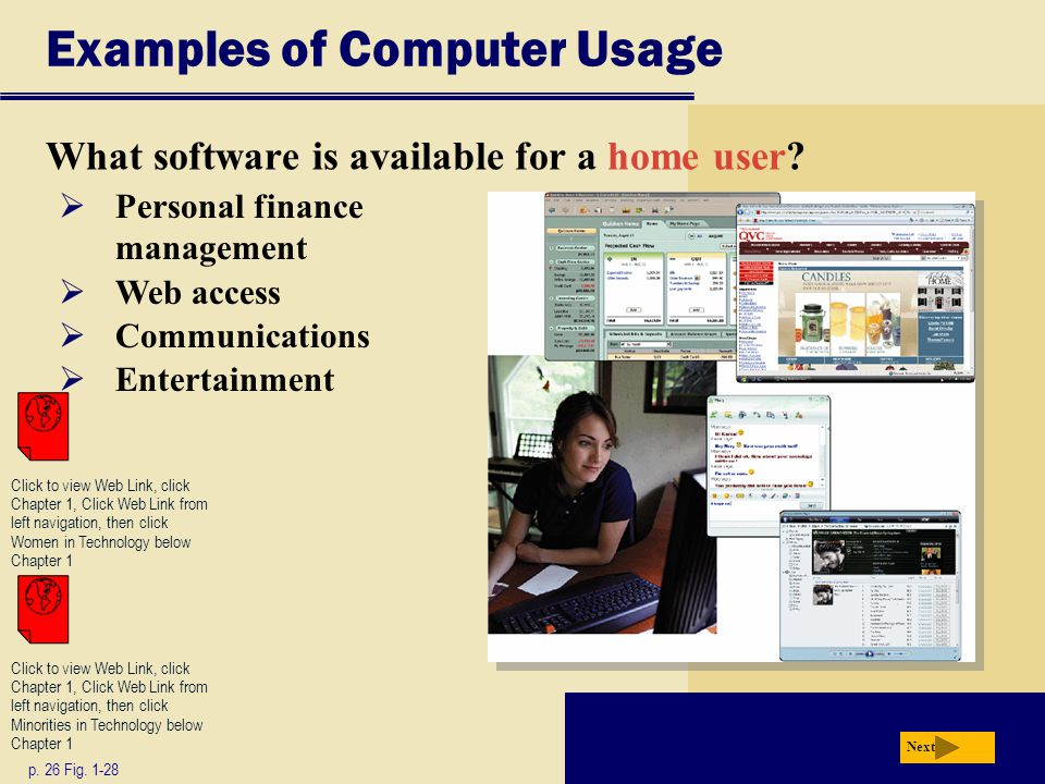 Examples of Computer Usage p.28 Fig.