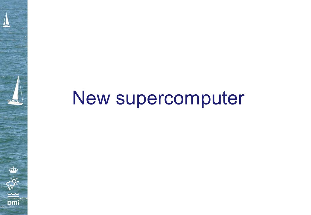 New supercomputer